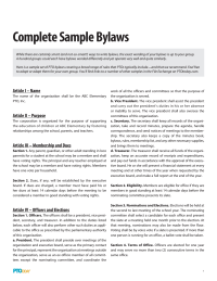 PTO Today: Bylaws Sample