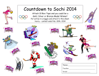 Sochi 2014 Olympic Collection Sheet