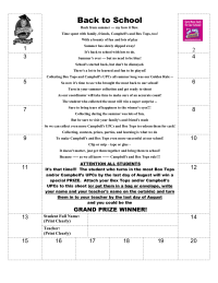 Back To School 25 Collection Sheet