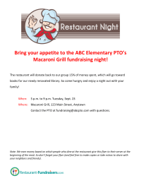 Restaurant Night Flyer