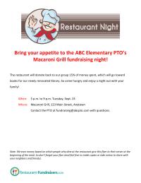 Restaurant Night Flyer