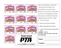 10 Box Tops, Raffle/Voting format