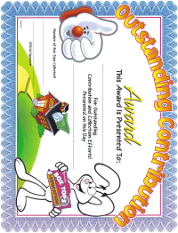 Award certificate from btfe website