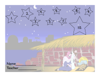 Nativity page for 10 Box Tops