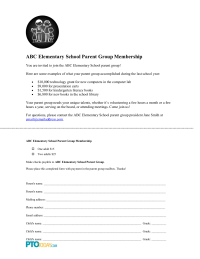 Parent Group Membership Form