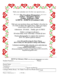 Freedom Elementary Father/Daughter Dance (Revised Flyer)