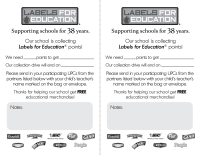 Labels for Education Backpack Stuffer