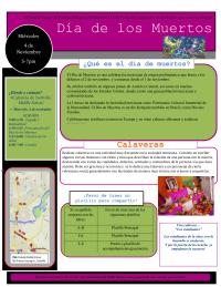 Celebración del Día de Muertos (Español)