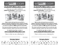 e-Labels for Education Backpack Stuffer
