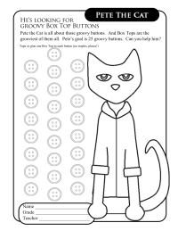 Pete the Cat Collection Sheet