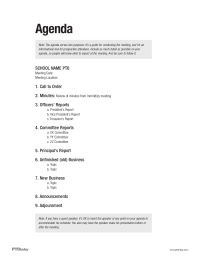 Pto Today Meeting Agenda Sample Pto Today