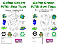 Going Green with Box Tops!