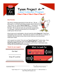Tyson A+ Letter to Parents