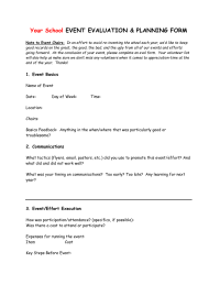 Post-Event Evaluation Form