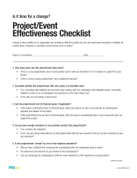 PTO Today: Event Effectiveness Evaluation Checklist