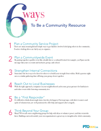 6 Ways To Be a Community Resource