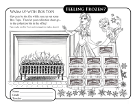 Frozen Collection Sheet BTFE