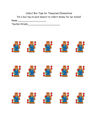 *Editable* Collect Box Tops with your school mascot!