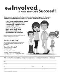PTO Today: Get Involved Flyer (black and white)