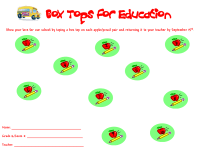 September back to school collection sheet