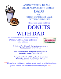 Donuts with Dads flier