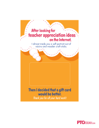 Gift Card Holders for Teacher Appreciation