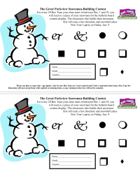 Snowman Building Contest Sheet