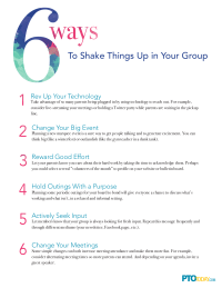 6 Ways To Shake Up Your Group
