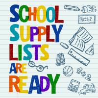 School Supply List Ready Facebook Graphic