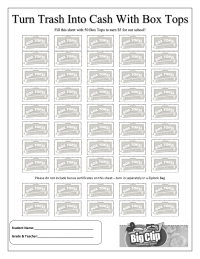 Trash to Cash 50 Count Collection Sheet
