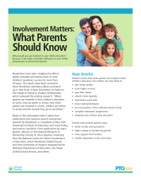 Involvement Matters: What Parents Should Know