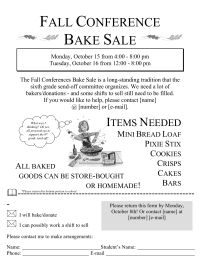 how to plan a bake sale