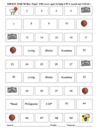 Basketball Collection Sheet--50 count