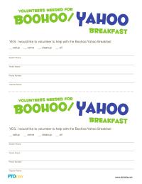 Boohoo/Yahoo Breakfast Volunteer Form