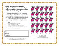 Amusement Park Collection Sheet