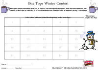 Box Tops Hot Chocolate Pajama Party - 25 count sheet