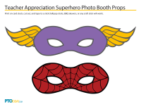 Superhero Teacher Appreciation Photo Booth Props