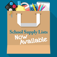 School Supply Lists Available Facebook Graphic