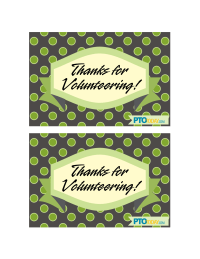 Volunteer Appreciation Postcards