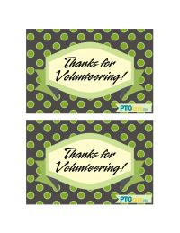 Volunteer Appreciation Postcards