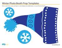 Winter Photo Booth Prop Templates