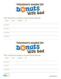 Doughnuts With Dad Volunteer Form
