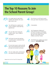Top 10 Reasons To Join the School Parent Group
