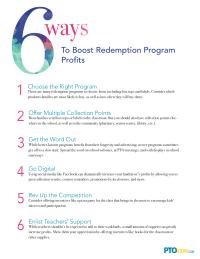 6 Ways To Boost Redemption Program Profits