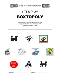 Boxtopoly Collection Sheet