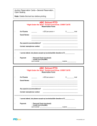 PTO Today: Auction Reservation Cards