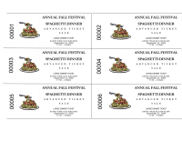 Spaghetti Dinner Advanced Sale Tickets
