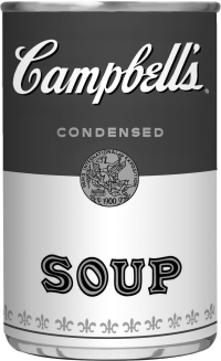 Campbell's Soup Can Graphic - Black & White