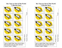 Box Tops Rockets Collection Sheet 10ct.