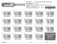 Labels for Education 5-Point Product UPC Collection Sheet